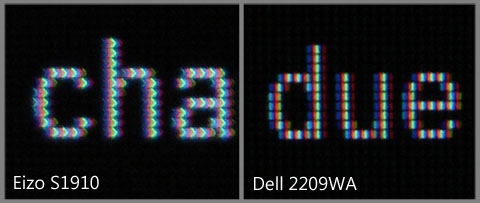 ClearType text on Eizo S1910 and Dell 2209WA