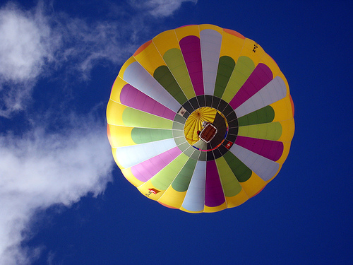 Picture of a balloon in the sky